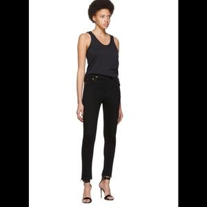 RE/DONE jeans SZ 26 black high rise ankle crop NWT